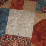 Detail of fall wall hanging