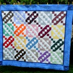 Jacob's Lader quilt (Purchased quilt top and reworked it adding border)