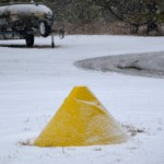 Orrin's cone emerged from snow